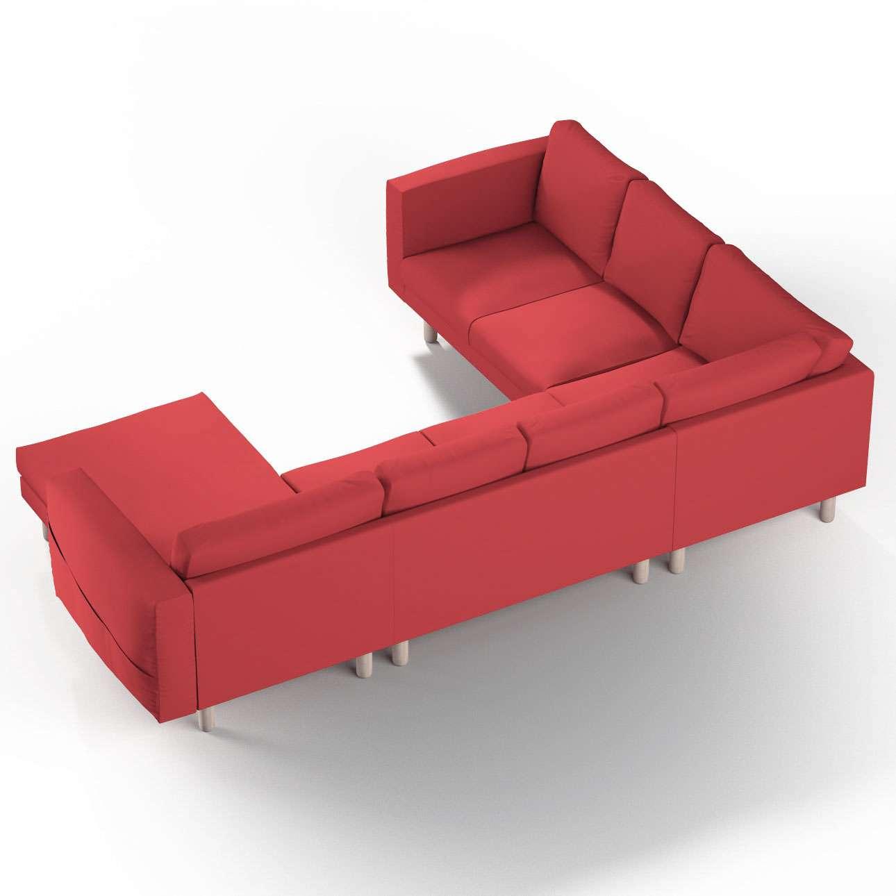 Pokrowiec na sofę narożną Norsborg 5-osobową z szezlongiem w kolekcji Cotton Panama, tkanina: 702-04