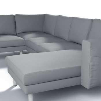Pokrowiec na sofę narożną Norsborg 5-osobową z szezlongiem w kolekcji Cotton Panama, tkanina: 702-07