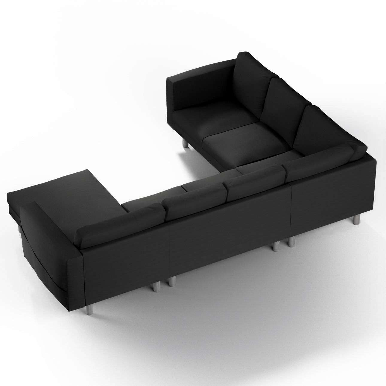 norsborg bezug f r 5 sitzer ecksofa mit recamiere shadow grey dekoria. Black Bedroom Furniture Sets. Home Design Ideas