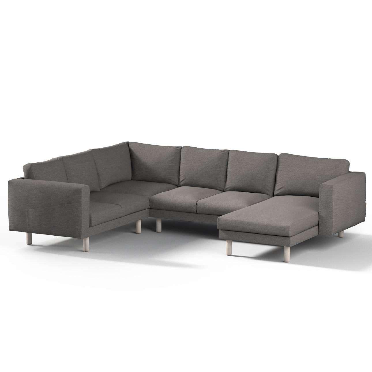 norsborg bezug f r 5 sitzer ecksofa mit recamiere grau dekoria. Black Bedroom Furniture Sets. Home Design Ideas