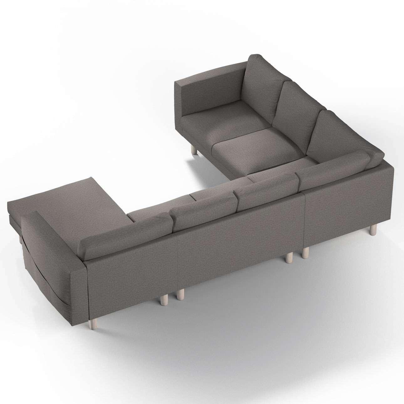 Pokrowiec na sofę narożną Norsborg 5-osobową z szezlongiem w kolekcji Edinburgh, tkanina: 115-77