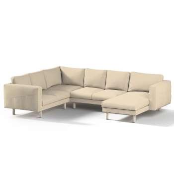 Pokrowiec na sofę narożną Norsborg 5-osobową z szezlongiem w kolekcji Edinburgh, tkanina: 115-78