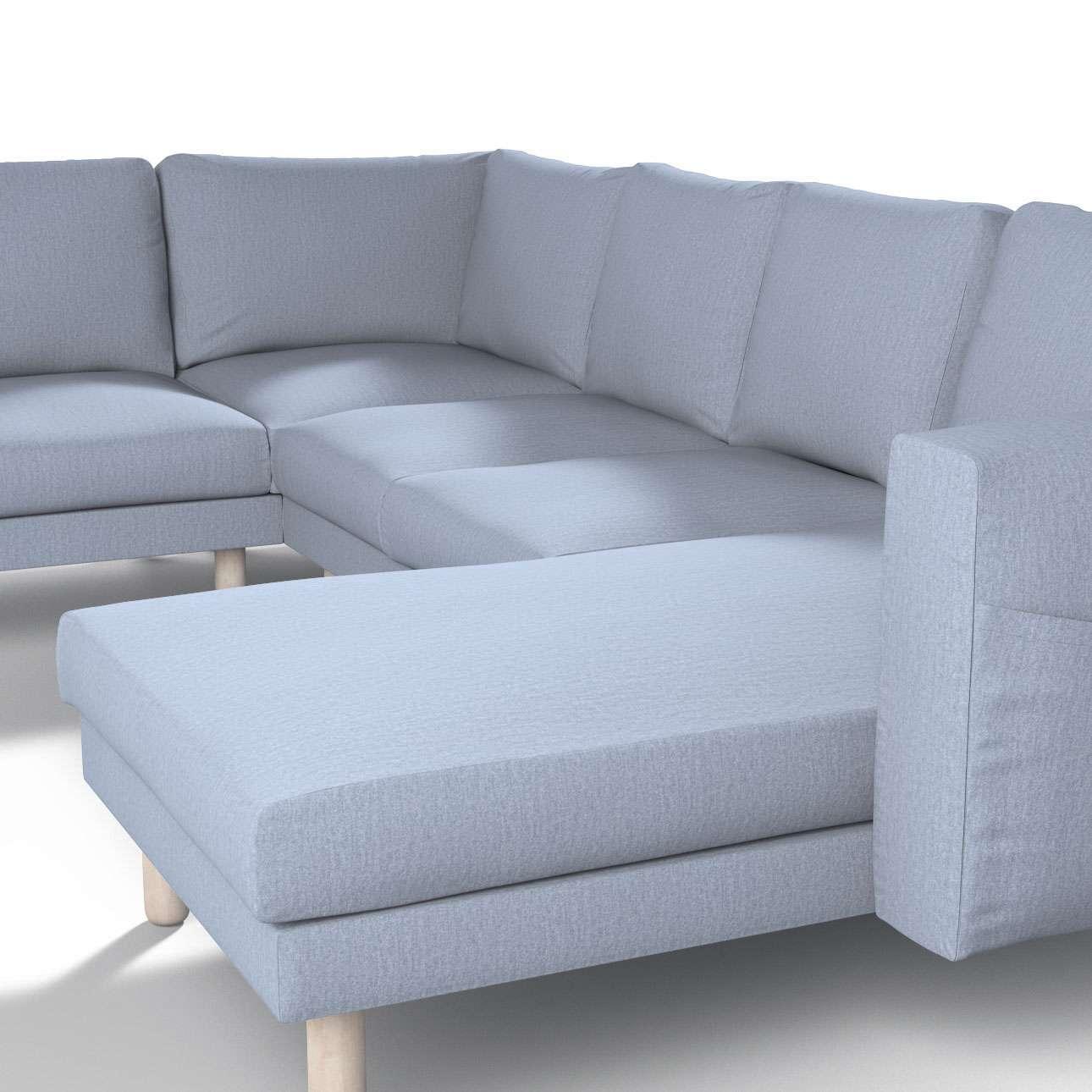 Pokrowiec na sofę narożną Norsborg 5-osobową z szezlongiem w kolekcji Chenille, tkanina: 702-13