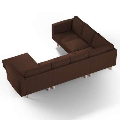 Pokrowiec na sofę narożną Norsborg 5-osobową z szezlongiem w kolekcji Chenille, tkanina: 702-18