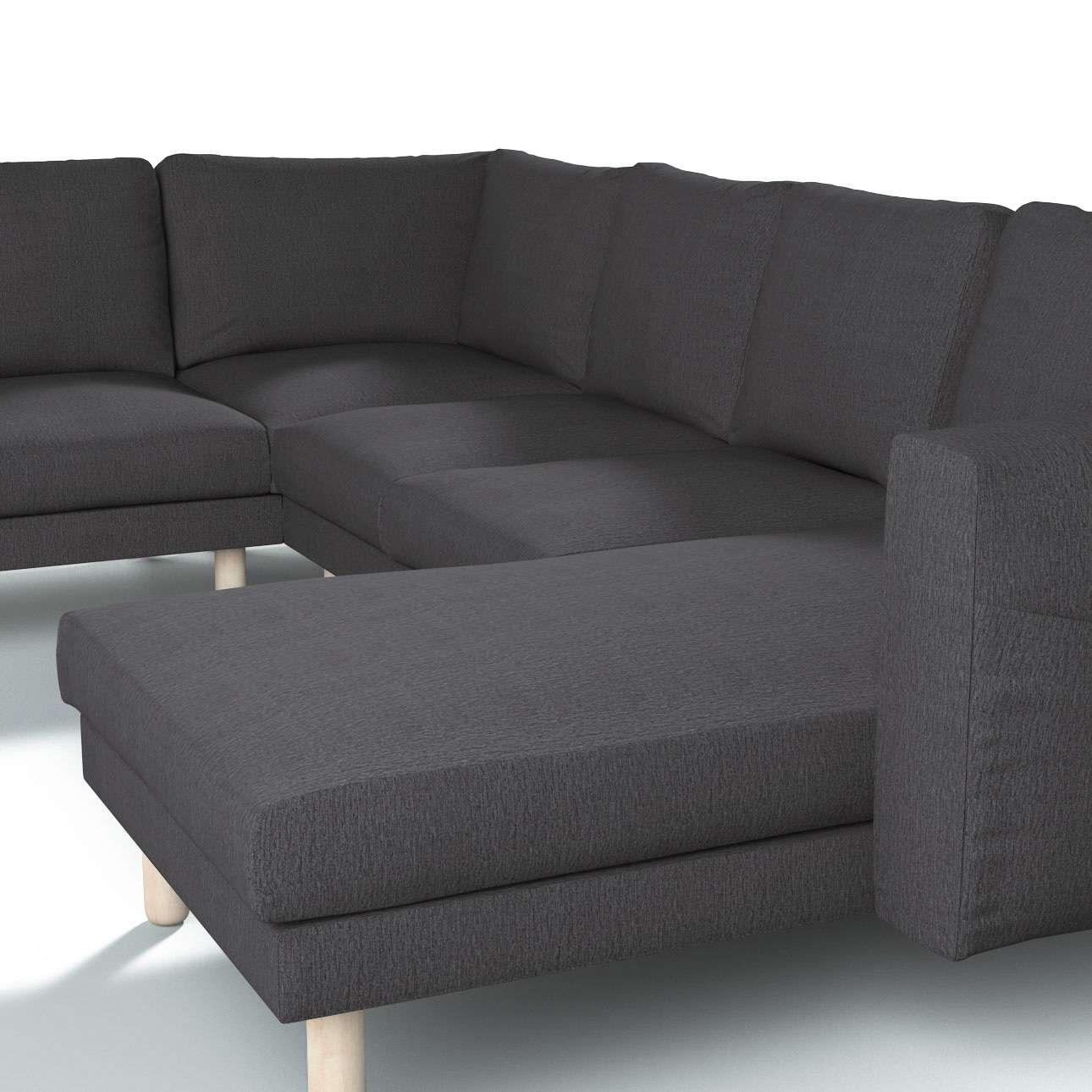 Pokrowiec na sofę narożną Norsborg 5-osobową z szezlongiem w kolekcji Chenille, tkanina: 702-20