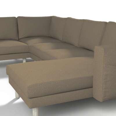 Pokrowiec na sofę narożną Norsborg 5-osobową z szezlongiem w kolekcji Chenille, tkanina: 702-21