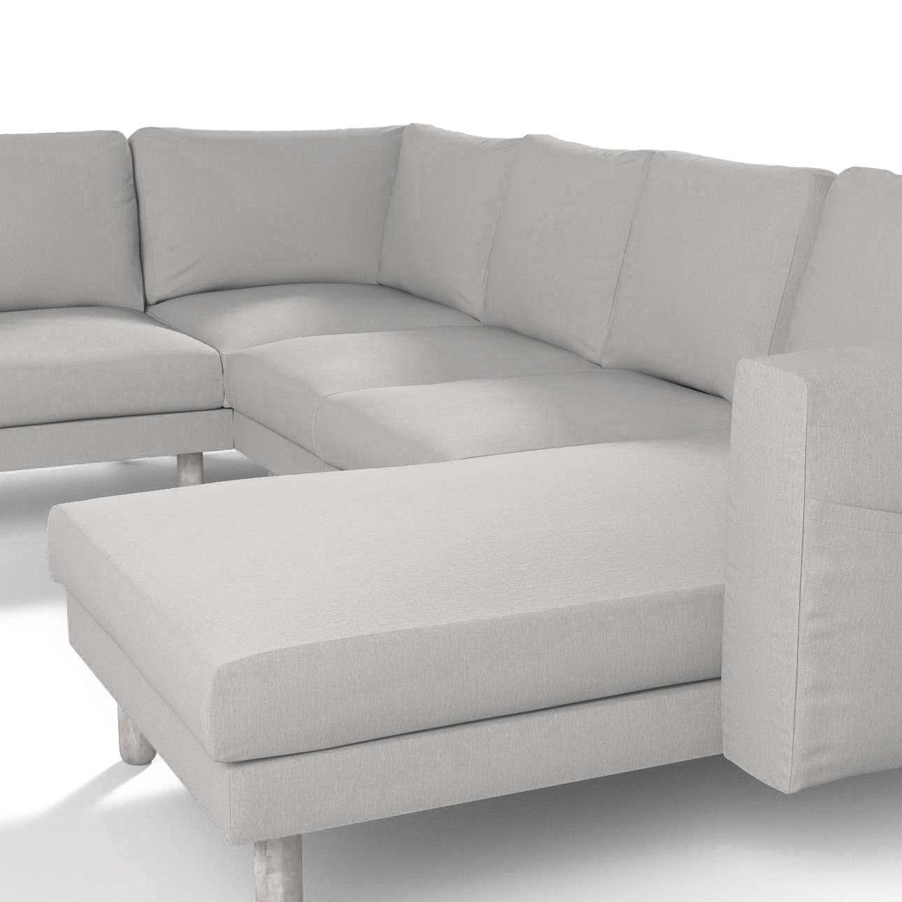 Pokrowiec na sofę narożną Norsborg 5-osobową z szezlongiem w kolekcji Chenille, tkanina: 702-23