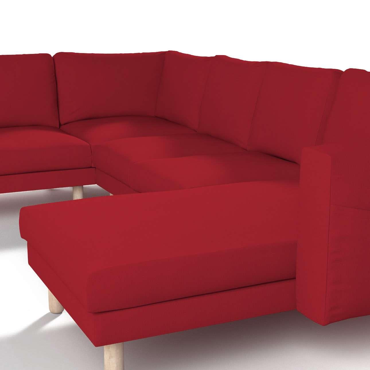 Pokrowiec na sofę narożną Norsborg 5-osobową z szezlongiem w kolekcji Chenille, tkanina: 702-24
