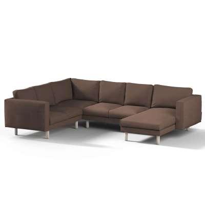Pokrowiec na sofę narożną Norsborg 5-osobową z szezlongiem w kolekcji Etna, tkanina: 705-08