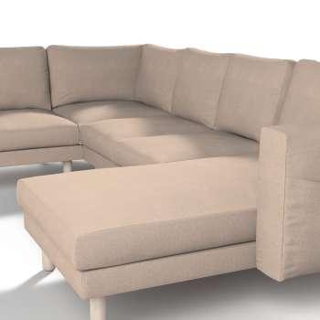 Pokrowiec na sofę narożną Norsborg 5-osobową z szezlongiem w kolekcji Etna, tkanina: 705-09