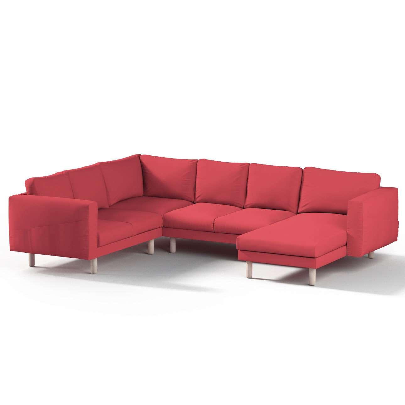 Pokrowiec na sofę narożną Norsborg 5-osobową z szezlongiem w kolekcji Etna, tkanina: 705-60