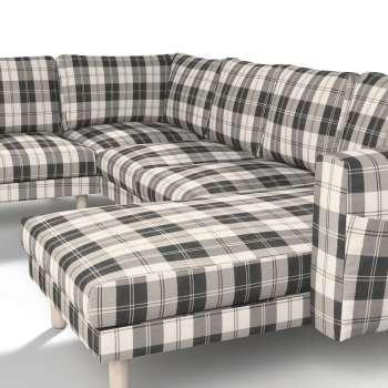 Pokrowiec na sofę narożną Norsborg 5-osobową z szezlongiem w kolekcji Edinburgh, tkanina: 115-74