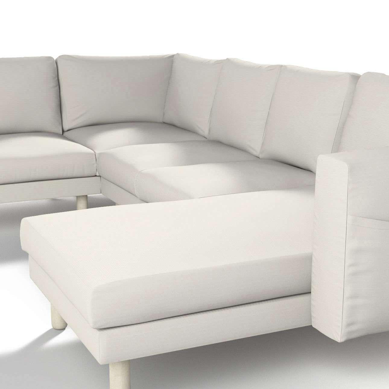 Norsborg betræk hjørnesofa 5 personer med chaiselong fra kollektionen Cotton Panama, Stof: 702-31