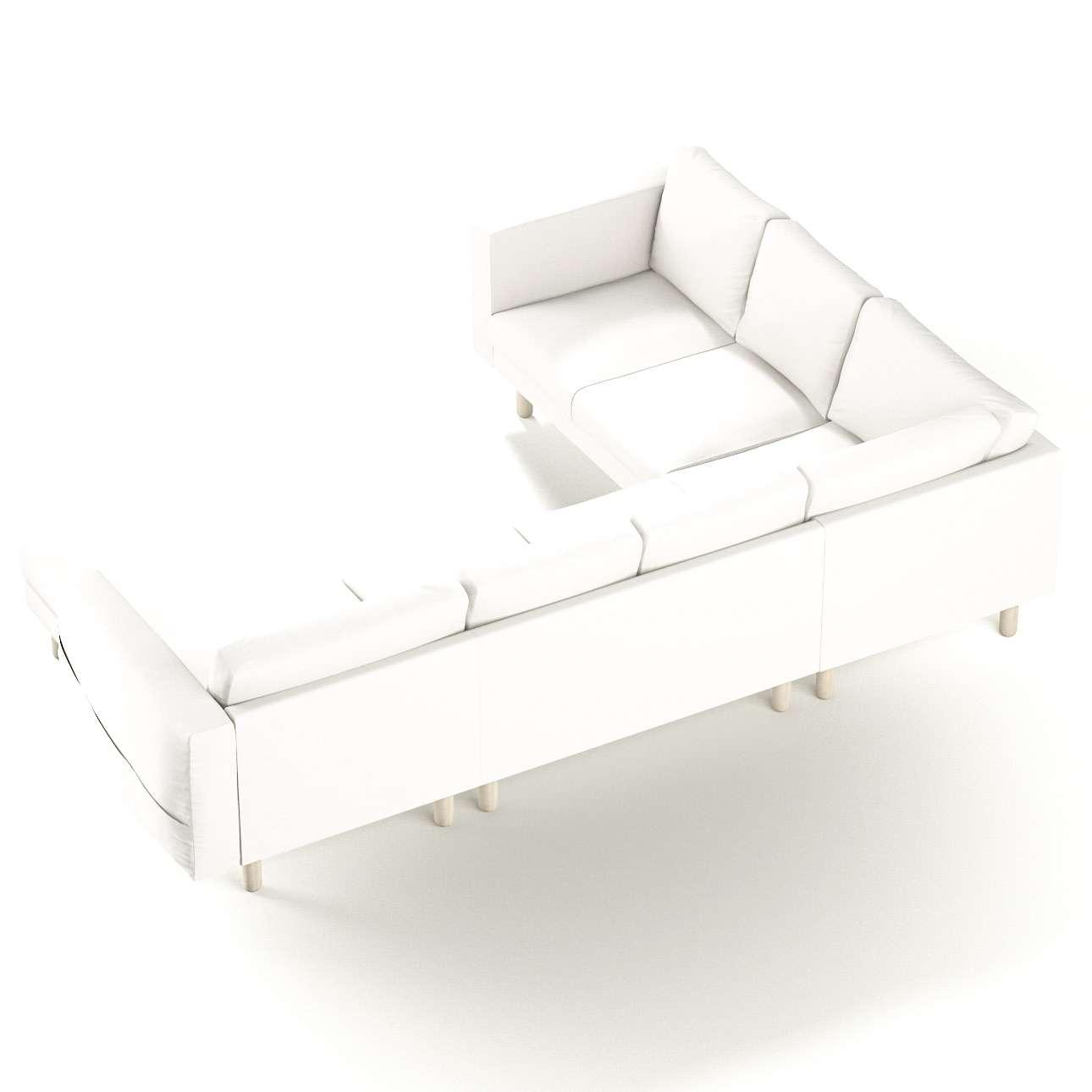 Pokrowiec na sofę narożną Norsborg 5-osobową z szezlongiem w kolekcji Cotton Panama, tkanina: 702-34