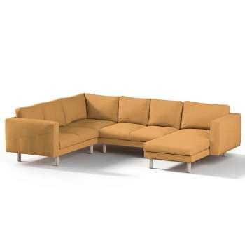 Pokrowiec na sofę narożną Norsborg 5-osobową z szezlongiem w kolekcji Etna, tkanina: 705-04