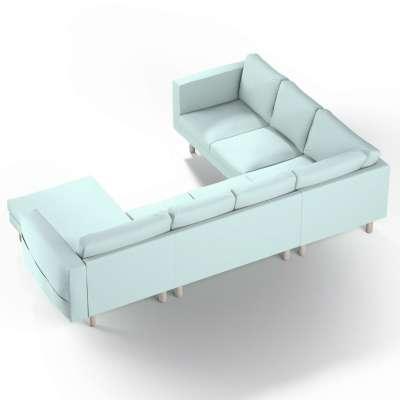 Pokrowiec na sofę narożną Norsborg 5-osobową z szezlongiem w kolekcji Cotton Panama, tkanina: 702-10