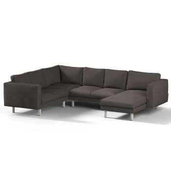 Pokrowiec na sofę narożną Norsborg 5-osobową z szezlongiem w kolekcji Vintage, tkanina: 702-36