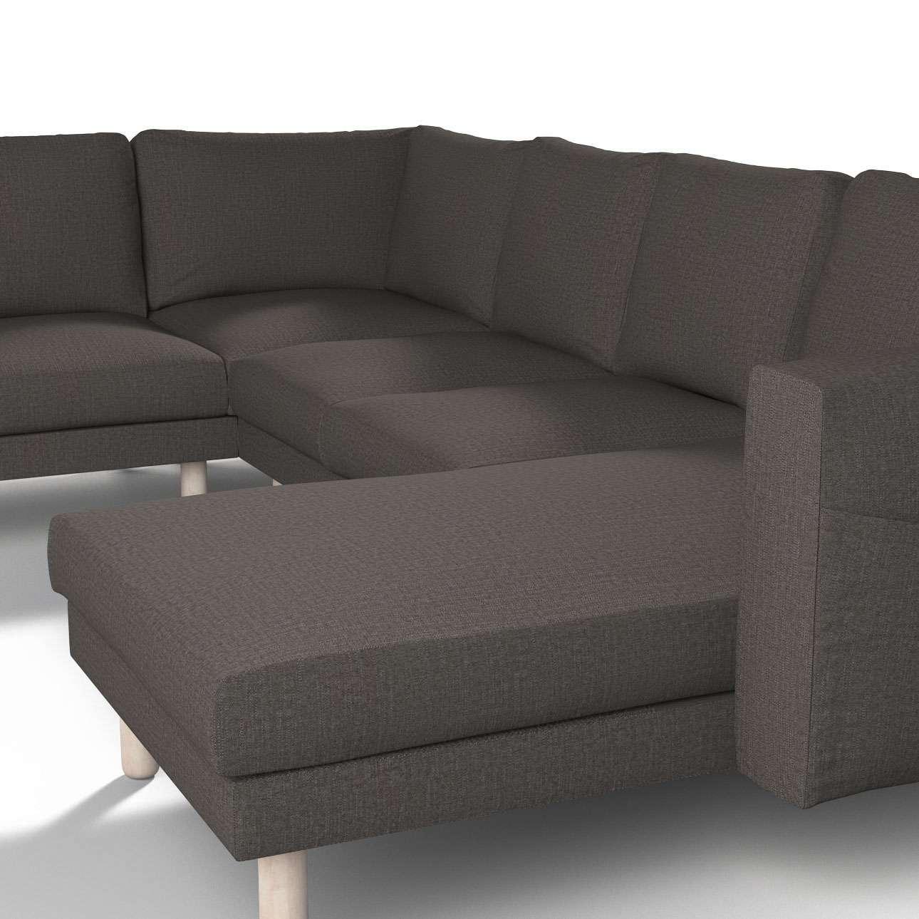 norsborg bezug f r 5 sitzer ecksofa mit recamiere braun. Black Bedroom Furniture Sets. Home Design Ideas