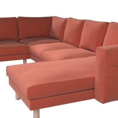 Pokrowiec na sofę narożną Norsborg 5-osobową z szezlongiem w kolekcji Ingrid, tkanina: 705-37