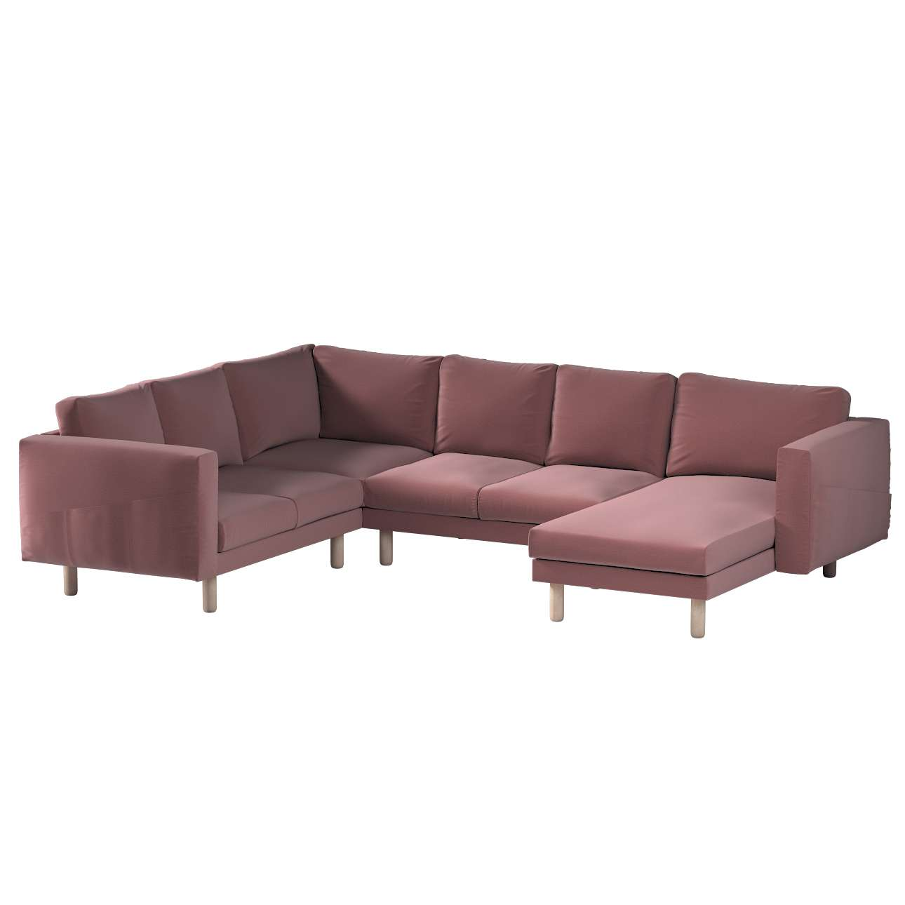 Pokrowiec na sofę narożną Norsborg 5-osobową z szezlongiem w kolekcji Ingrid, tkanina: 705-38