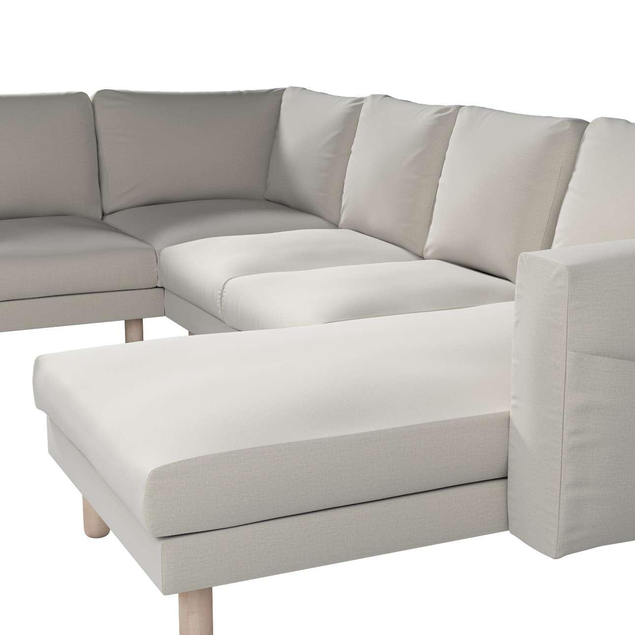 Pokrowiec na sofę narożną Norsborg 5-osobową z szezlongiem w kolekcji Ingrid, tkanina: 705-40