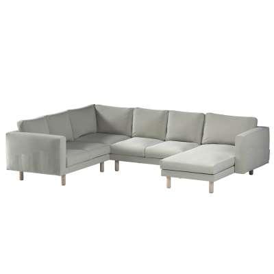 Pokrowiec na sofę narożną Norsborg 5-osobową z szezlongiem w kolekcji Ingrid, tkanina: 705-41