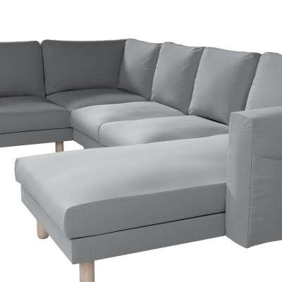 Pokrowiec na sofę narożną Norsborg 5-osobową z szezlongiem w kolekcji Ingrid, tkanina: 705-42