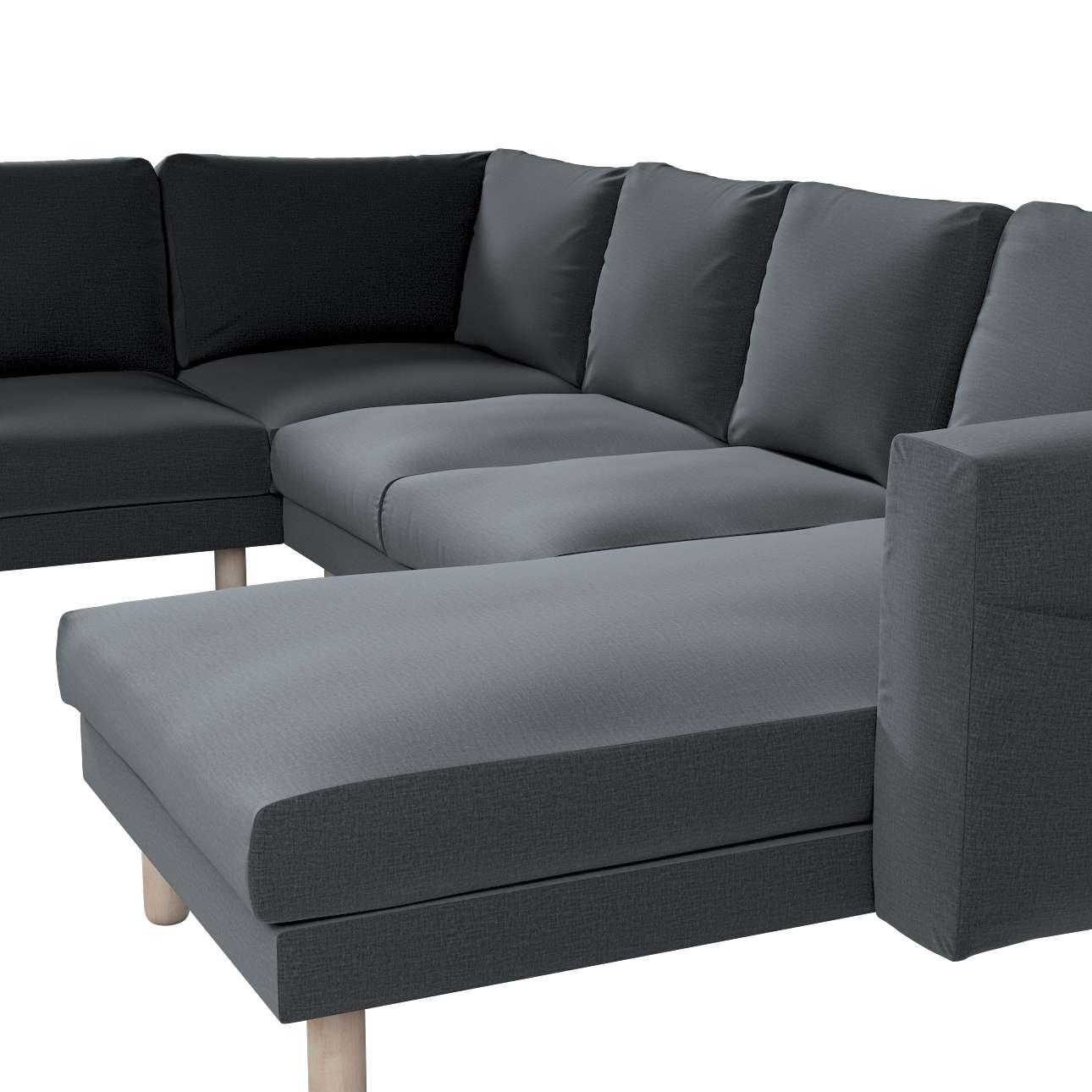 Pokrowiec na sofę narożną Norsborg 5-osobową z szezlongiem w kolekcji Ingrid, tkanina: 705-43