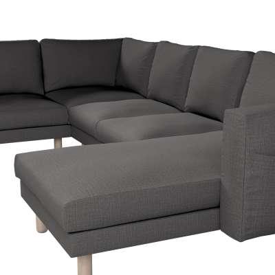 Pokrowiec na sofę narożną Norsborg 5-osobową z szezlongiem w kolekcji Living, tkanina: 161-16
