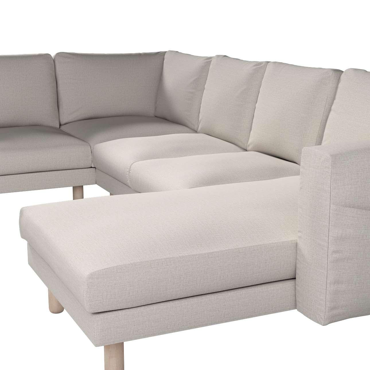 Pokrowiec na sofę narożną Norsborg 5-osobową z szezlongiem w kolekcji Living, tkanina: 161-00