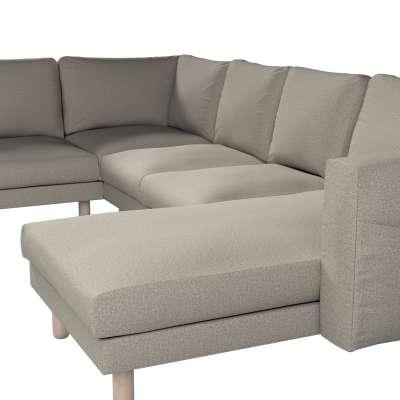 Pokrowiec na sofę narożną Norsborg 5-osobową z szezlongiem w kolekcji Madrid, tkanina: 161-23