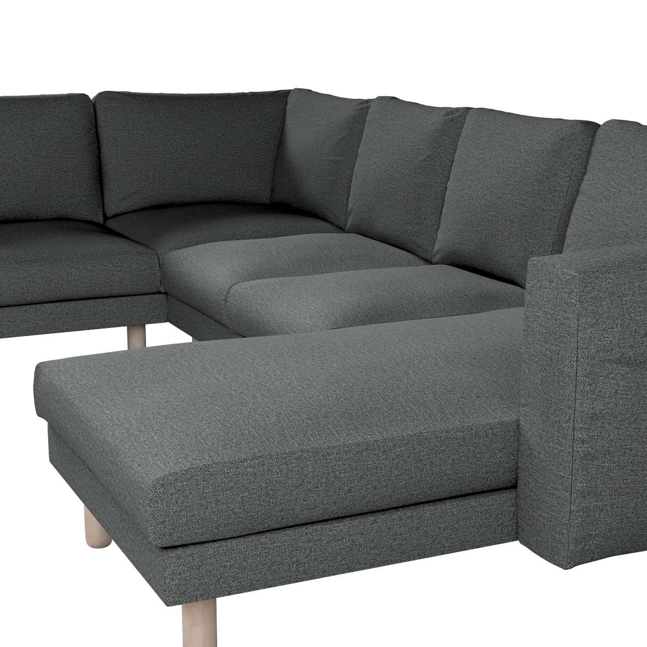 Pokrowiec na sofę narożną Norsborg 5-osobową z szezlongiem w kolekcji Madrid, tkanina: 161-24