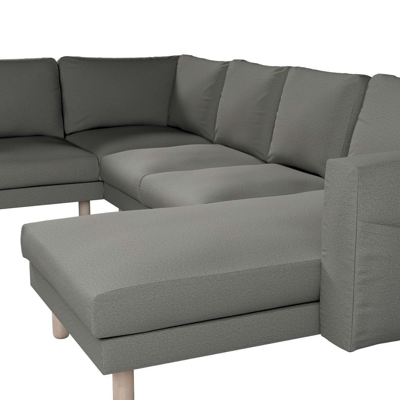 Pokrowiec na sofę narożną Norsborg 5-osobową z szezlongiem w kolekcji Etna, tkanina: 161-25