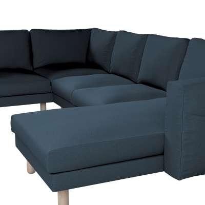 Pokrowiec na sofę narożną Norsborg 5-osobową z szezlongiem w kolekcji Etna, tkanina: 705-30