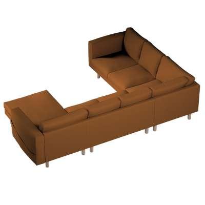Pokrowiec na sofę narożną Norsborg 5-osobową z szezlongiem w kolekcji Living, tkanina: 161-28