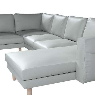 Pokrowiec na sofę narożną Norsborg 5-osobową z szezlongiem w kolekcji Bergen, tkanina: 161-72