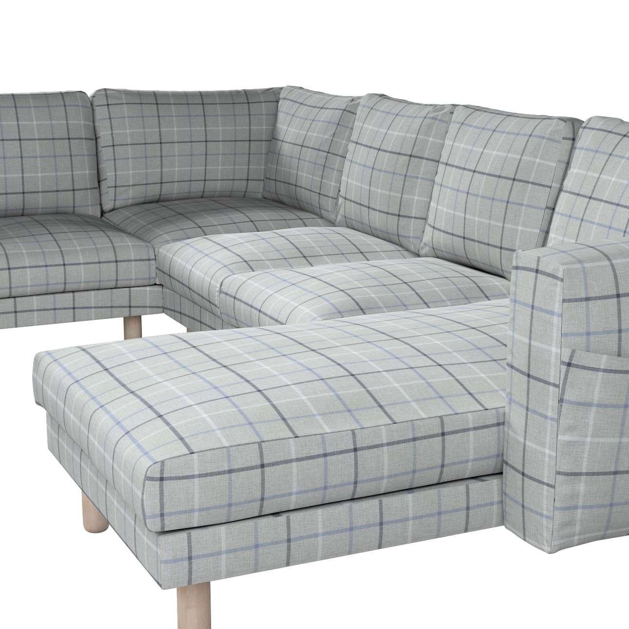 Pokrowiec na sofę narożną Norsborg 5-osobową z szezlongiem w kolekcji Edinburgh, tkanina: 703-18