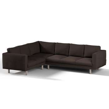 Pokrowiec na sofę narożną Norsborg 5-osobową w kolekcji Cotton Panama, tkanina: 702-03