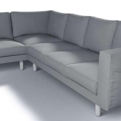 Pokrowiec na sofę narożną Norsborg 5-osobową w kolekcji Cotton Panama, tkanina: 702-07
