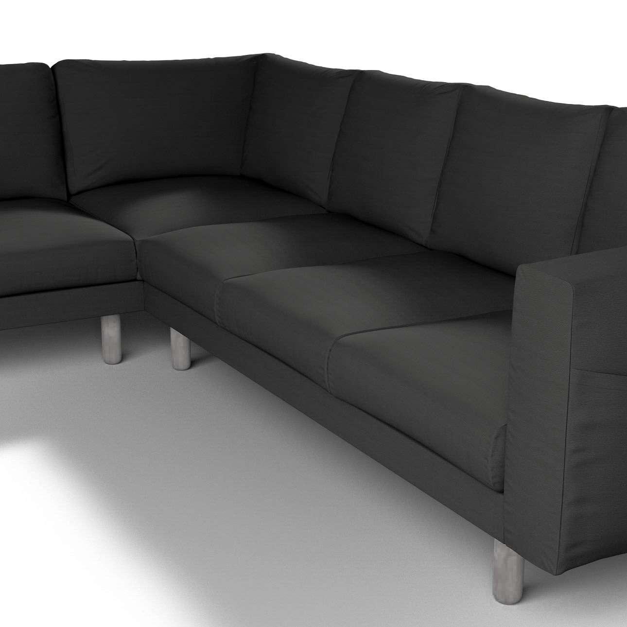 Pokrowiec na sofę narożną Norsborg 5-osobową w kolekcji Cotton Panama, tkanina: 702-08