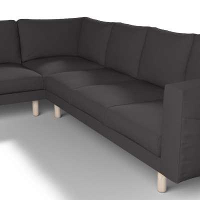 Pokrowiec na sofę narożną Norsborg 5-osobową w kolekcji Cotton Panama, tkanina: 702-09