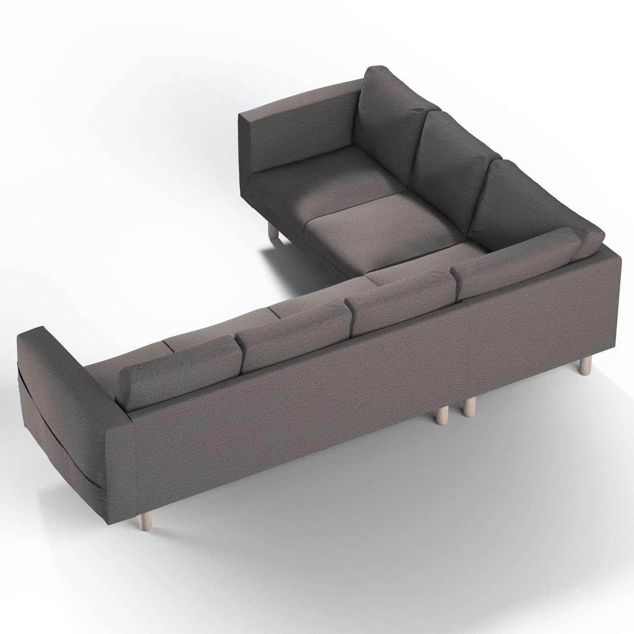 Pokrowiec na sofę narożną Norsborg 5-osobową w kolekcji Edinburgh, tkanina: 115-77