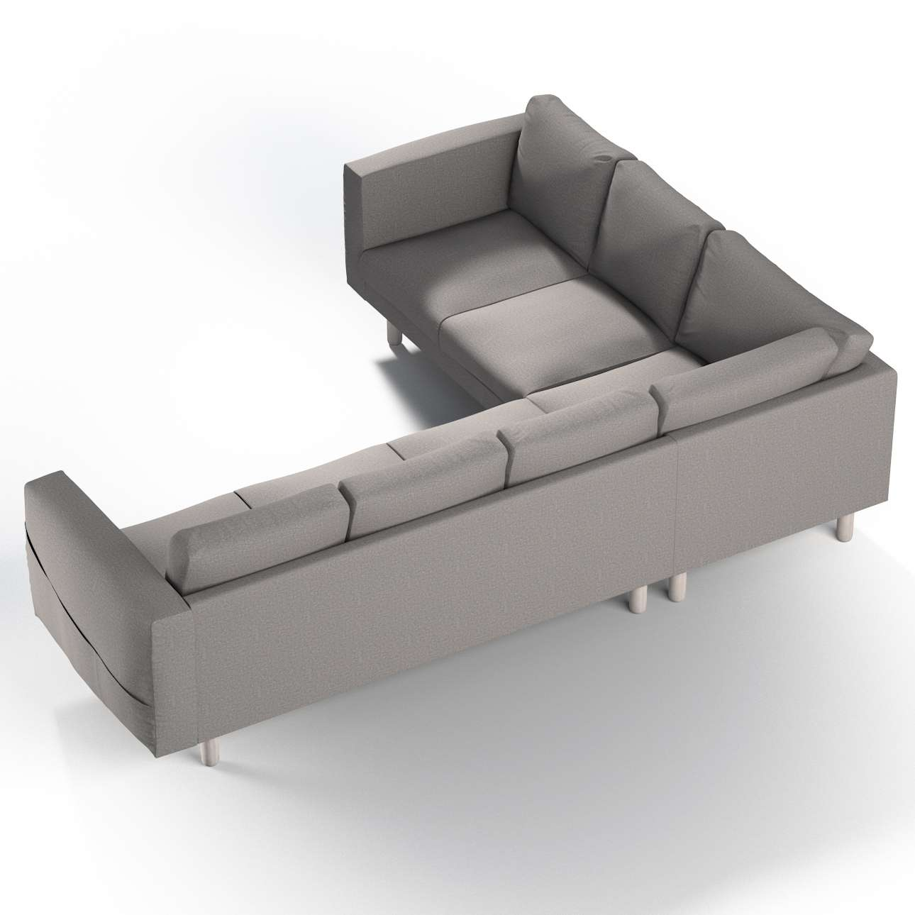 Pokrowiec na sofę narożną Norsborg 5-osobową w kolekcji Edinburgh, tkanina: 115-81