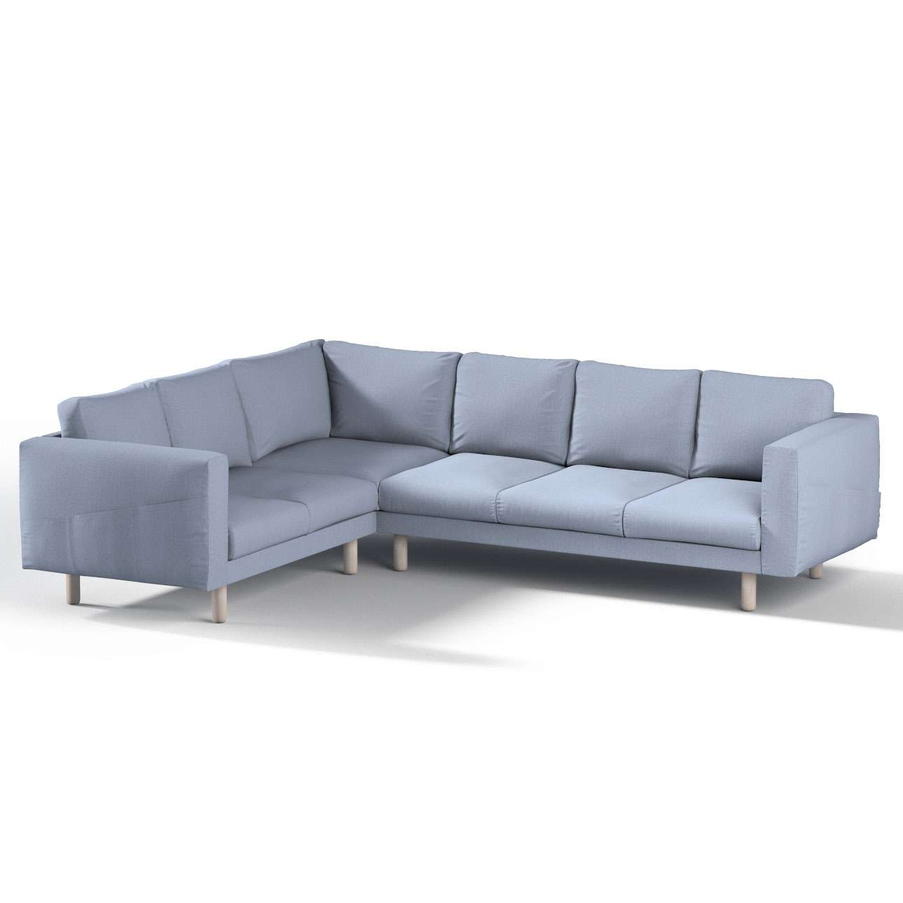 Pokrowiec na sofę narożną Norsborg 5-osobową w kolekcji Chenille, tkanina: 702-13