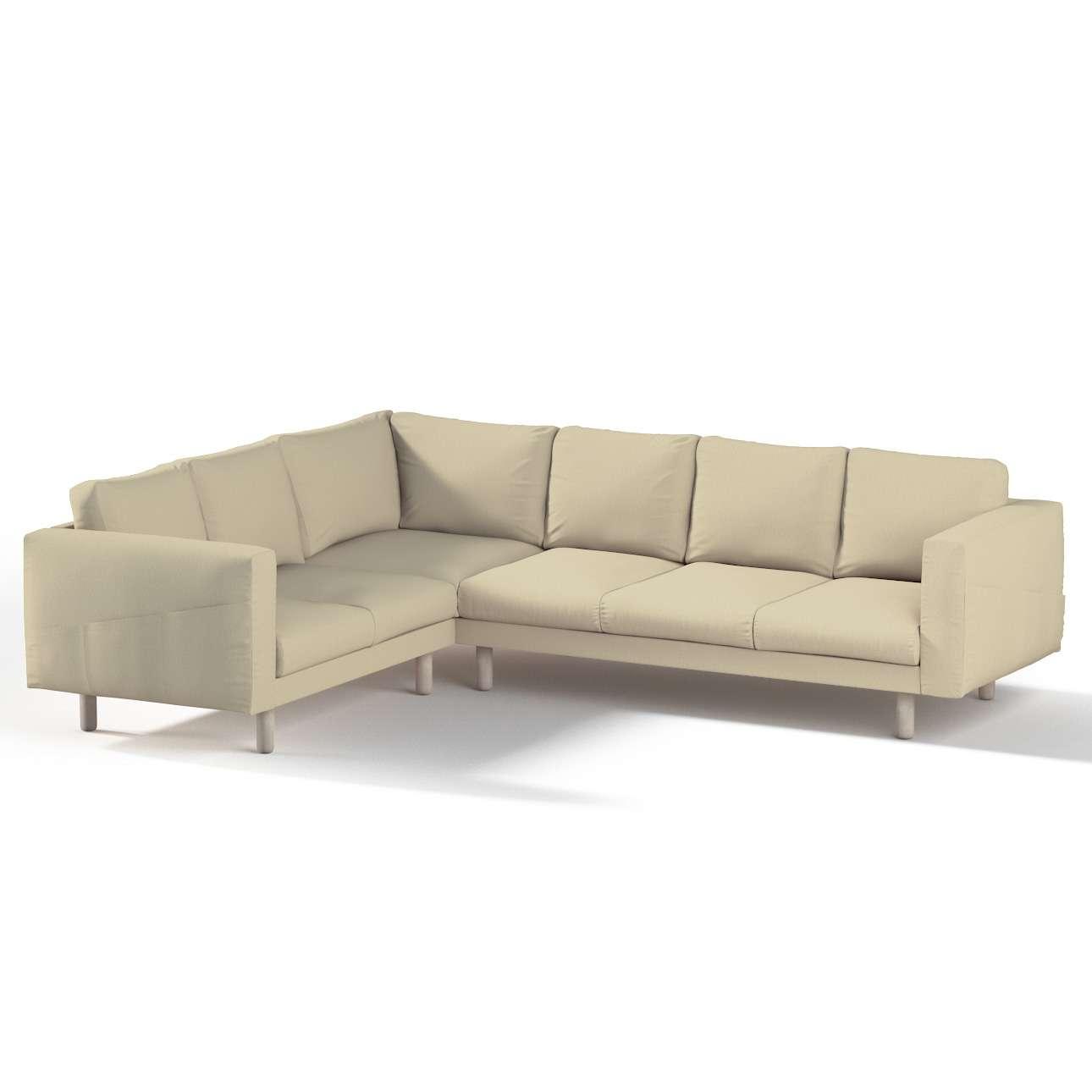 Pokrowiec na sofę narożną Norsborg 5-osobową w kolekcji Chenille, tkanina: 702-22