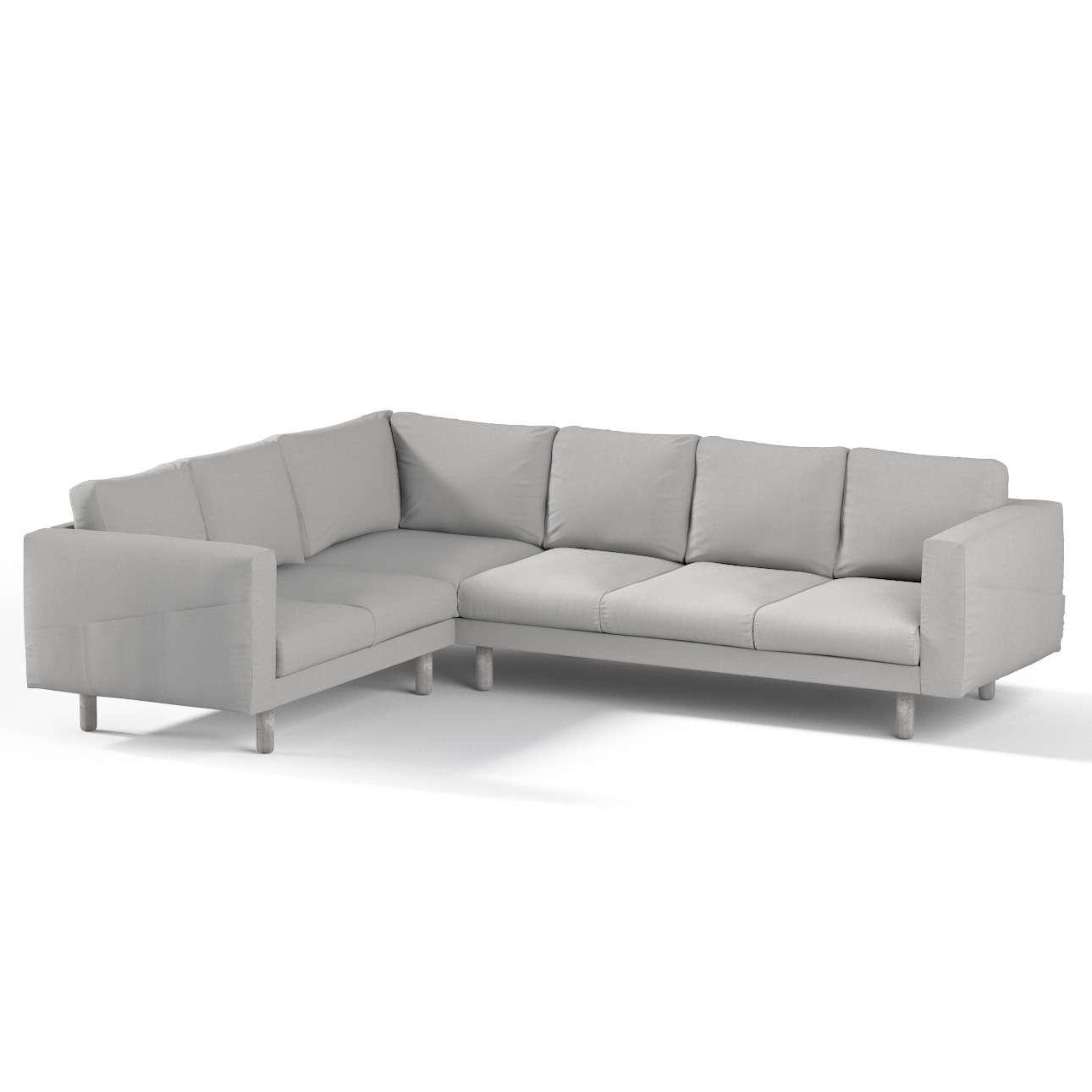 Pokrowiec na sofę narożną Norsborg 5-osobową w kolekcji Chenille, tkanina: 702-23