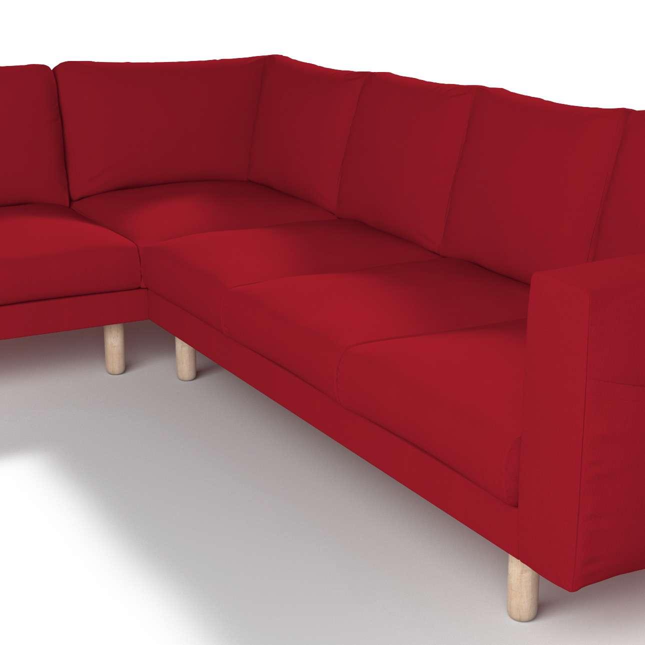Pokrowiec na sofę narożną Norsborg 5-osobową w kolekcji Chenille, tkanina: 702-24
