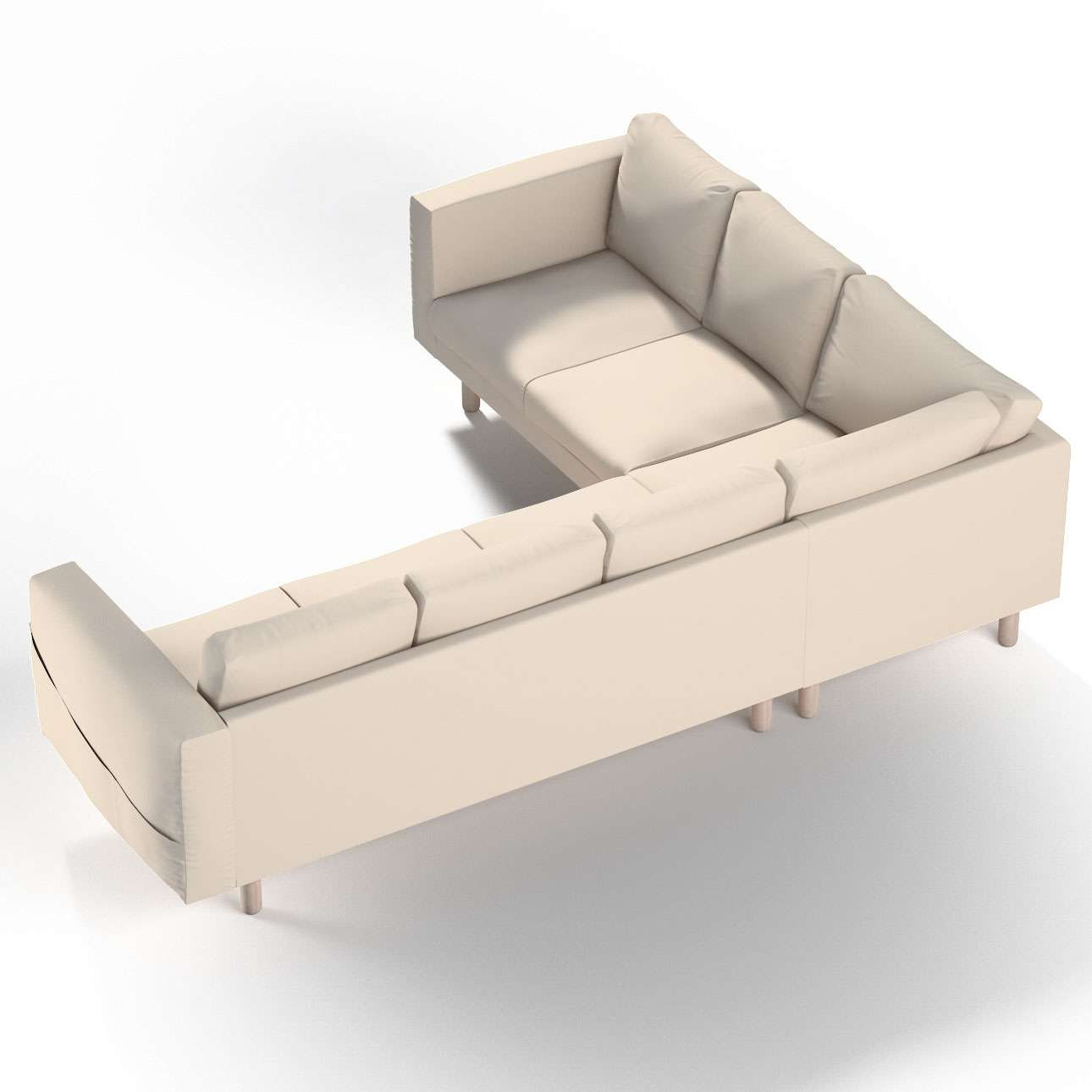 Norsborg 5-seat corner sofa cover in collection Etna, fabric: 705-01
