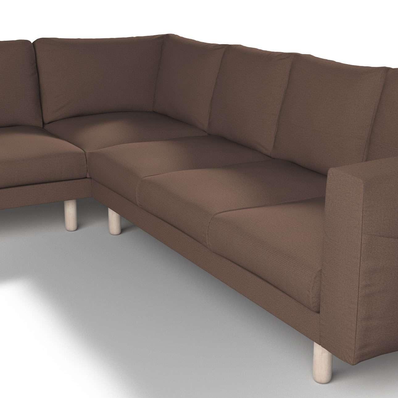 Pokrowiec na sofę narożną Norsborg 5-osobową w kolekcji Etna, tkanina: 705-08