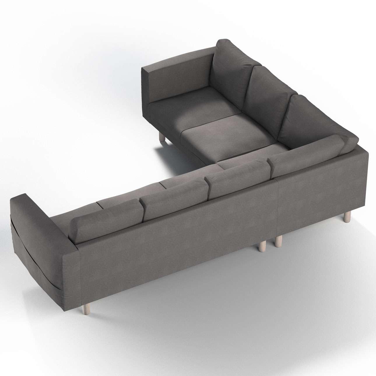 Pokrowiec na sofę narożną Norsborg 5-osobową w kolekcji Etna, tkanina: 705-35